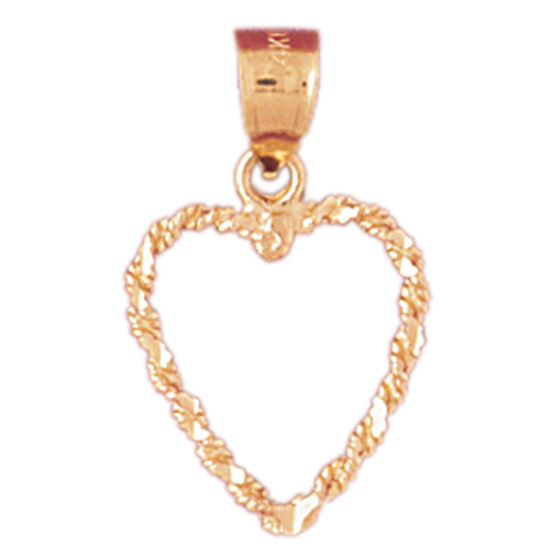 Jewels Obsession 18K Yellow Gold 22mm Floating Heart Pendant
