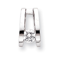 14k White Gold A Diamond Slide