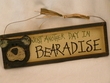 Rustic Wood Wall Plaque 13x4 -Bearadise  (P66)