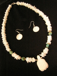 "Native American Navajo Jewelry -Necklace & Earring Set 21"" (148)"