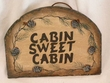 Rustic Slate Welcome Sign 13x9 -Cabin Sweet Cabin  (P50)