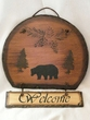 Rustic Slate Welcome Sign 12x13 -Bear  (P51)