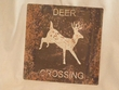 Rustic Tin Sign 11x11 -Deer  (P57)