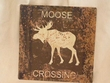 Rustic Tin Sign 11x11 -Moose  (P59)
