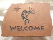 Southwest Kokopelli Welcome Plaque -Brown