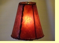 Red Rawhide Bell Lamp Shade 8""