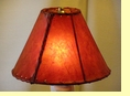 Red Rawhide Lamp Shade 10""