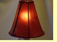 Red Rawhide Bell Lamp Shade 10""