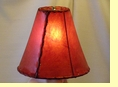 Red Rawhide Bell Lamp Shade 12""