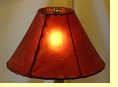 Red Rawhide Lamp Shade 14""