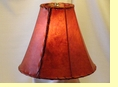 Red Rawhide Bell Lamp Shade 14""