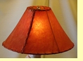 Red Rawhide Lamp Shade 16""