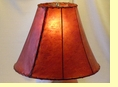 Red Rawhide Bell Lamp Shade 18""