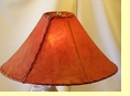 Red Rawhide Lamp Shade 20""