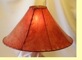 Red Rawhide Lamp Shade 22""