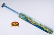 "Painted Canoe Paddle 44.5"" -Indian Village  (c1)"