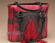Fringed Designer Western Purse -Red  (418)