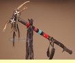 "Pueblo Indian Antler Top Medicine Stick 23"" -Tigua  (m86)"