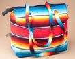 Large Flat Bottom Serape Purse   (p32)