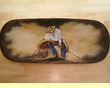 Large Hand Painted Rustic Wooden Bowl 11x28 -Roper  (7)