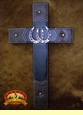 "Western Style Rustic Wall Cross 20"" -Horse Shoes  (19)"