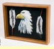 Southwestern Art Shadow Box -Eagle Head  (sb6)