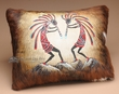 Hand Painted Southwest Cowhide Pillow -Kokopellis  (p21)