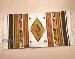 Southwestern Zapotec Indian Rug 30x60  (79)
