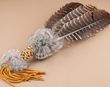 Native American Cherokee Beaded Prayer Fan (f23)
