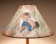 "Painted Leather Lamp Shade 18"" -Cowboy   (pl105)"