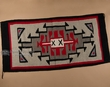 Southwestern Zapotec Indian Rug 32x64 Wool  (sb2)