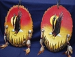 Pair Painted Log Wall Plaques -Eagle