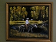 "Hand Painted Western Cowboy Art 19""x23"" -Meadow   (17)"