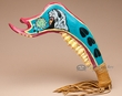 "Painted Native American Jawbone War Club 17"" -Sioux  (t20)"