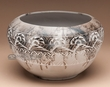 "Navajo Horse Hair Pottery Bowl 10""x6""  (289)"