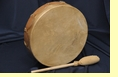 "Native American Elk Hide Hand Drum 10"" -Cherokee"