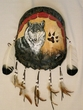 Painted Turtle Shell Wall Hanging -Wolf (7)