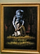 "Hand Painted Western Art 19""x23"" -Rodeo Cowboy  (8)"