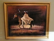 "Hand Painted Western Art 19""x23"" -Indian Warrior  (2)"
