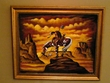 "Hand Painted Western Art 19""x23"" -End Of The Trail  (4)"