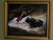 "Hand Painted Western Art 19""x23"" -Buffalo  (11)"