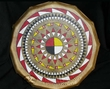 "Lakota Painted Drum 16"" -Black Bonnet Pattern  (pd73)"