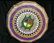 "Lakota Painted Drum 16"" Black Bonnet Warrior -Turtle  (pd72)"