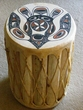 "Painted Indian Drum 12""x18""  -Eagle  CLEARANCE"