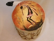 "Painted Tarahumara Drum 8""x12"" -Kokopelli"