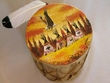 "Painted Tarahumara Drum 8""x12"" -Indian Village"