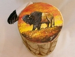 "Painted Tarahumara Drum 8""x12"" -Buffalo"