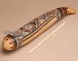 "Andean Indian Carved Gourd Rain Stick 17""   (2)"