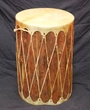 "Tarahumara Indian Pine Drum 12x18"" bark/light hide"