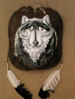 "Painted Turtle Shell Mandella 12""x14"" -Wolf   (18)"